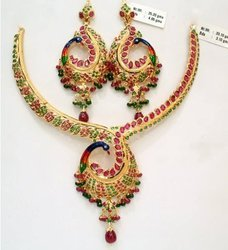 Gold Kanty Necklace Set