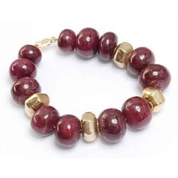 Natural Ruby Beaded Bracelet