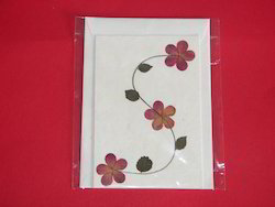 greeting cards with dried flowers