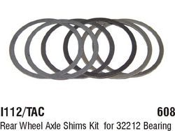 I112/TAC Rear Wheel Axle Shims Kit