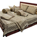 Bedsheet Duvet Cushion N Two Single Bed Quilt Set - 205