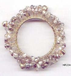 Beaded Napkin Ring NR234