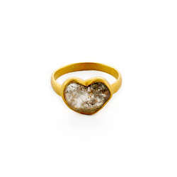 Heart Shaped Slice Diamond Ring