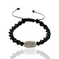 Diamond Pave Bead Shamballa Bracelet Jewelry
