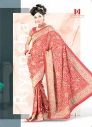 Fancy Bids and Stone Work Georgette Sari