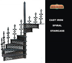 Victorian Antique Cast Iron Spiral Staircase