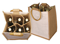 Jute Six Bottle Wine Bag