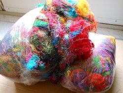 Multicolored Sari Silk Fibers