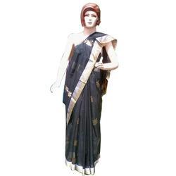 Golden Border Saree