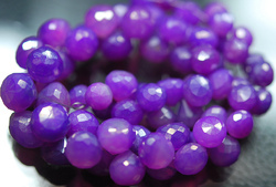 Purple Color Chalcedony Faceted Onion Briolettes