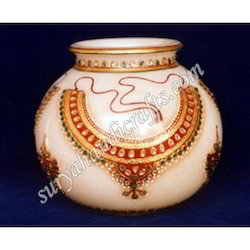 Marble Pots With Meena Work