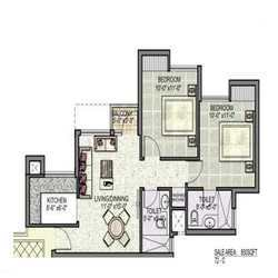 2 BHK Floor Plan (LAYOUT - TYPE B )