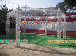 New Wedding Six Pillar Crystal Mandap