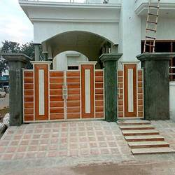 Main Gate Design  Home on Designer Gates  Iron Gates  Main Gate  Perforated Gates