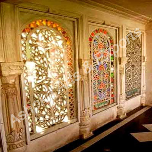 Glass Work - Glass Work On Wall Exporter from Udaipur