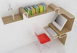 Computer Tables with books Racks