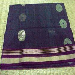 Pure Cotton (Golden & Brown Border) Sarees