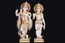 Radha Krishna Pair Made Of Marble