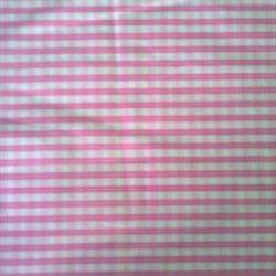 Pink Check Fabric