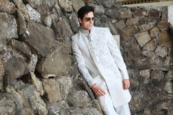 White Indo Western Suit
