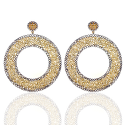 Hanging Indian Diamond Earrings