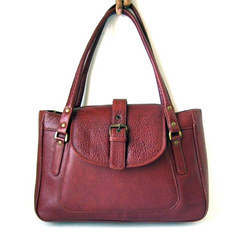 Brown Leather Leather Handbag