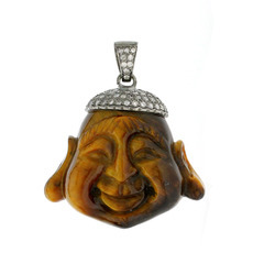 Buddha pendants crafted on Tiger eye stone