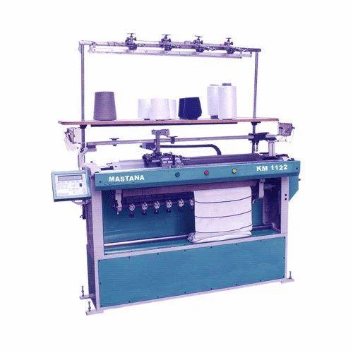 Semi Computerised Collar Flat Knitting Machine
