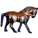 Meena Painting Horse With Standing