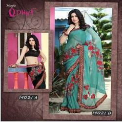 Beautiful Resham Party Wear Saree