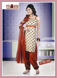 Designer Cotton Salwar Kameez In Pretty Print With Matching Salwar & Dupatta