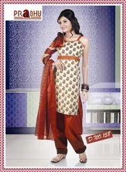 Designer Cotton Salwar Kameez In Pretty Print With Matching Salwar & Dupatta