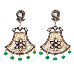 Diamond Chandelier Pearl Earrings