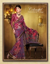 Designer Embroidered Georgette Sarees
