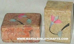 Stone Inlaid Pill Boxes