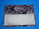 Flocked Handmade Paper Damask Design Invitations