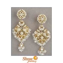 Designer Earrings Golden