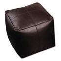 Leather Cube Chair