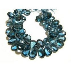 London+Blue+Topaz+Faceted+Pear