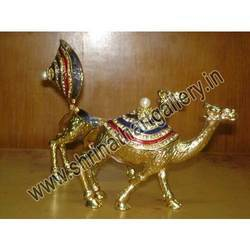 Crafted Wooden Camels
