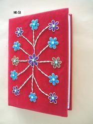 Embroidered Handmade Paper Journals