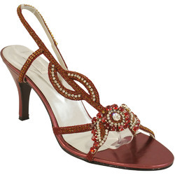 red colored bridal sandals