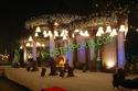 Wedding Crystal Mandap With Crystal Backdrop