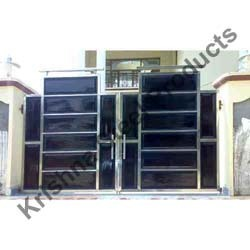 Elegant Stainless Steel Main Gates