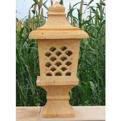 Teak Sandstone Lamp Post