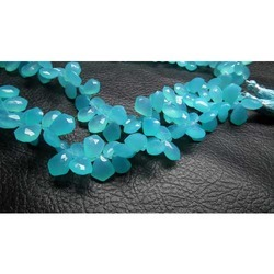 Turquoise Chalcedony Necktie Shaped Beads