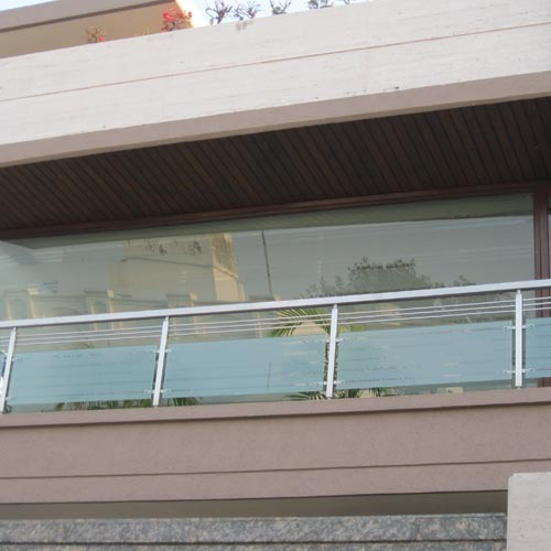 Front Elevation Glass Design : House front elevation stainless steel grill design