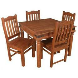 Square Shaped Dinning Table Set with 4 chairs