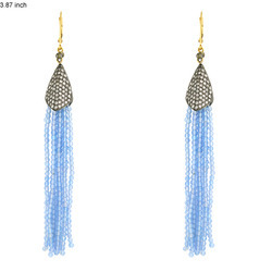 Gemstone Tassel Earring Jewellery