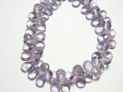 Pink+Amethyst+Faceted+Pear+Briolettes